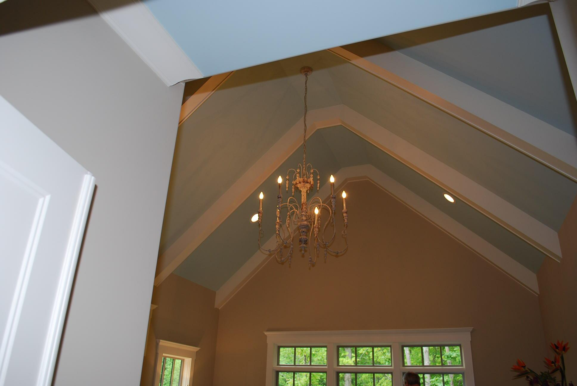 In decorating remember to look up hooker furniture for Vaulted ceiling lighting solutions