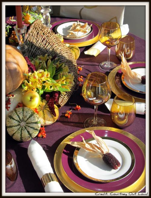 Thanksgiving Tablescapes Beyond Orange Amp Brown Hooker