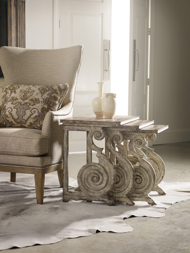 Nested scroll accent tables