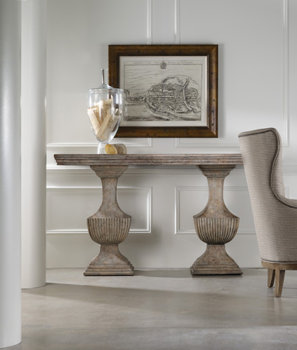 Urn console table can work in many spots