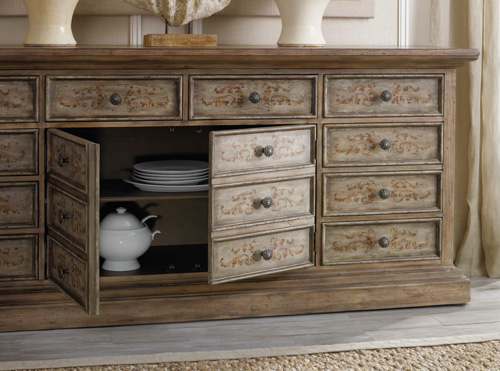 Hand-painted chest with hidden storage