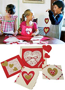 Handmade Valentines from a kit