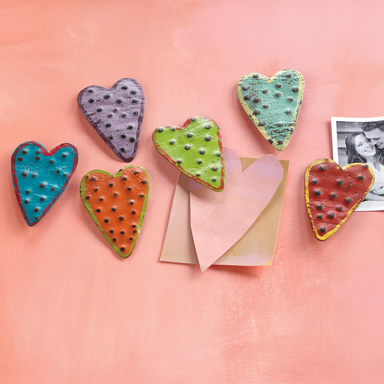Hand-crafted heart magnets