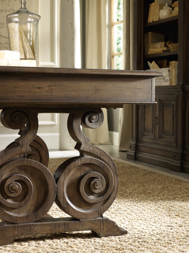 Scroll table bases add to romance