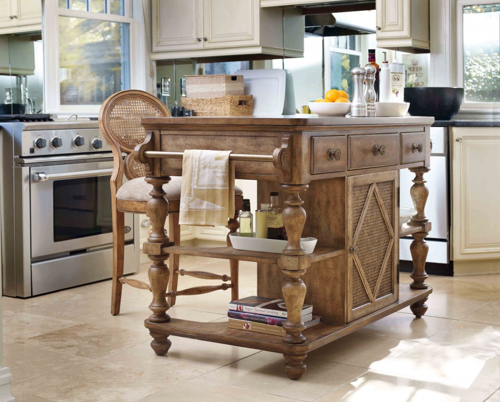 The Primrose Hill kitchen island makes for a great bar when entertaining.