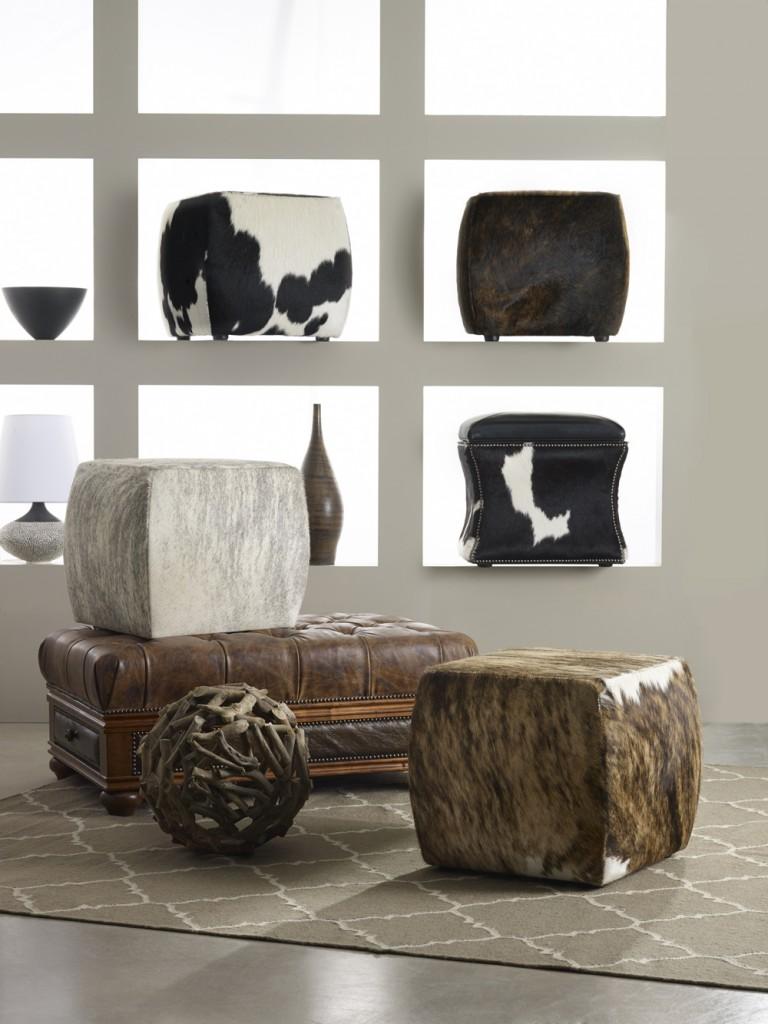 Animal print bonanza on poufs, cubes
