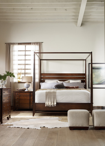 Canopy bed uses negative space