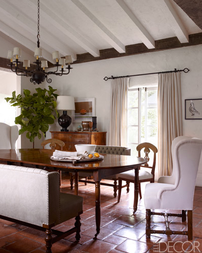 Reese Witherspoon's dining room. William Waldron, ElleDecor.com