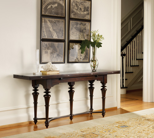 Flip-top console can be used as hall, sofa table