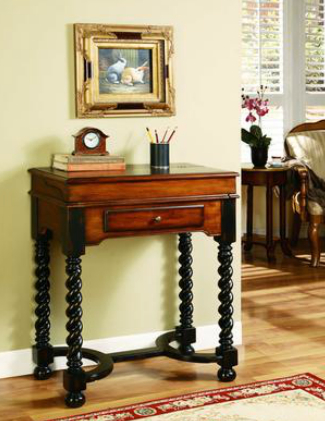 Hooker Furniture Jacobean Twist Leg Flip-Top Desk