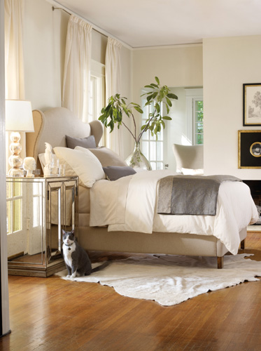 Find true Sanctuary in this upholstered bed