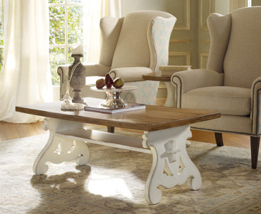 Chic table has a baroque-style base