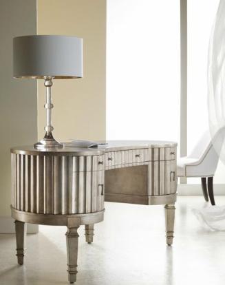 Hooker Furniture Fluted Kidney Desk