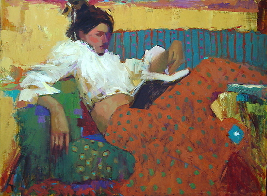 """Summer Read"" painting by Michael Steirnagle"