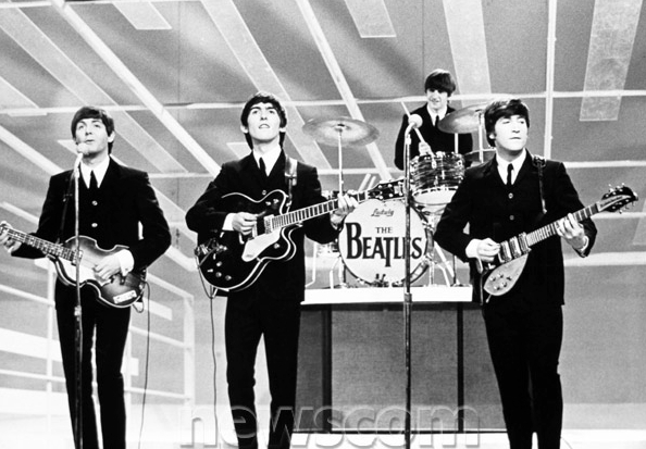 The Beatles made musical history on the Ed Sullivan Show.
