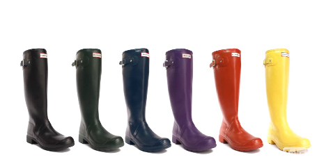 Hunter wellies--fashion must-haves?  Who knew?!