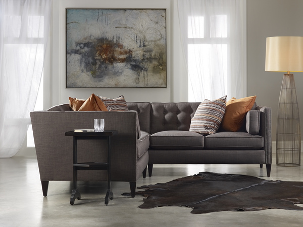 The stylish Eaton sectional from Sam Moore