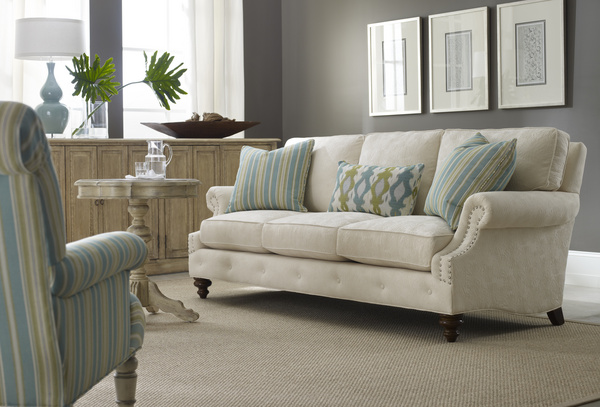 Comfortable sofas welcome us home