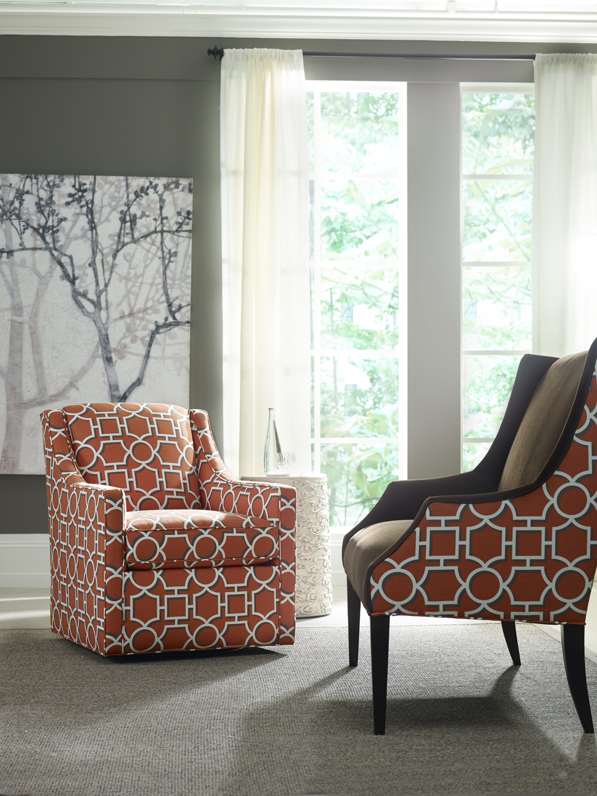 Attrayant Geometric Pattern On Chair, Settee Are Vibrant, Engaging