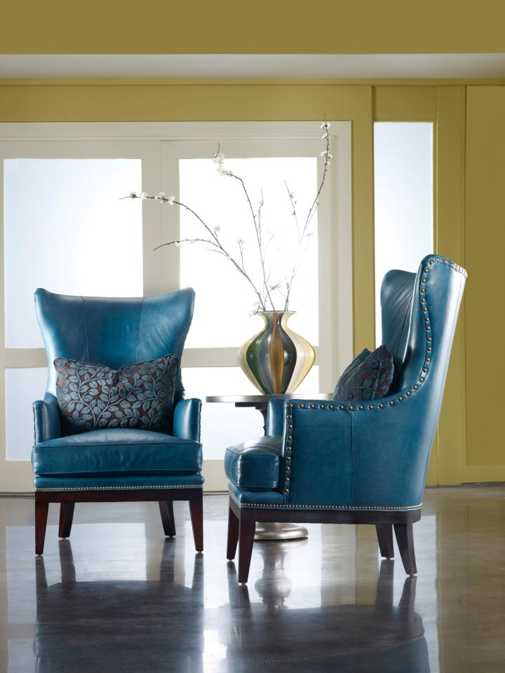 Sleek lines & teal leather are timeless
