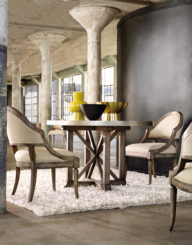 Superb Bentley table has chic industrial vibe with aluminum top