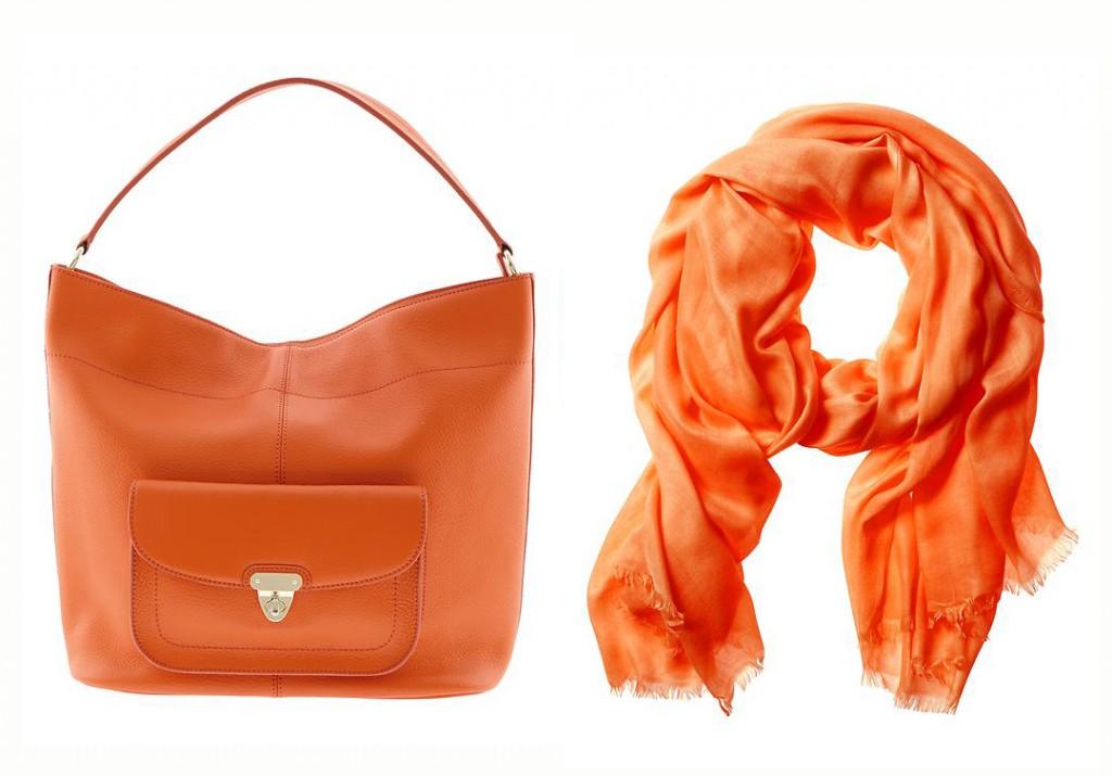 Orange bag & scarf from Banana Republic