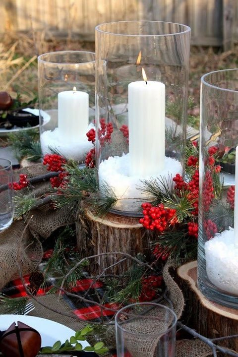 While hosting outdoors isn't a natural fit for most Christmas holidays, bringing the outdoor elements inside and accenting with tartan is. / Image credit: pinterest.com