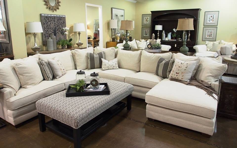 The details make the difference in this vignette featuring the Margo sectional from Sam Moore Furniture : sam moore sectional - Sectionals, Sofas & Couches
