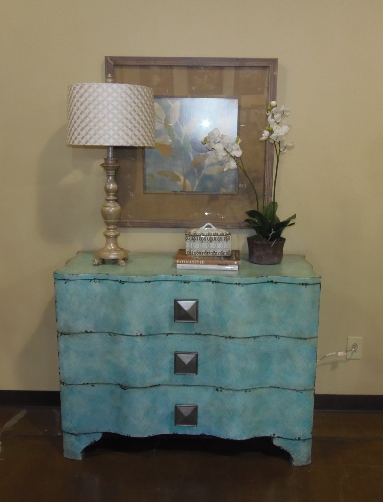 Fabrics & Furnishings delighted sweepstakes winner by accessorizing the chest she won.