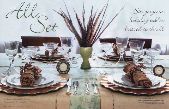 Creative tablescapes offer dining delight