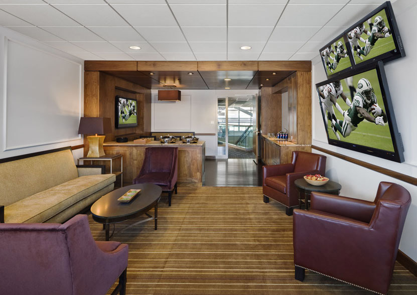 A MetLife Stadium Club Level Suite.  You can create a personal version, at home!
