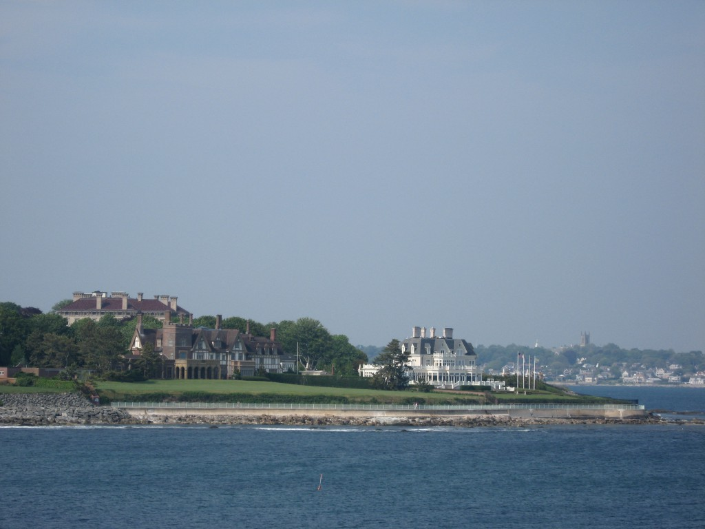 "My view of Newport, RI beach ""cottages"", a few years ago, from Doris Duke's Estate."