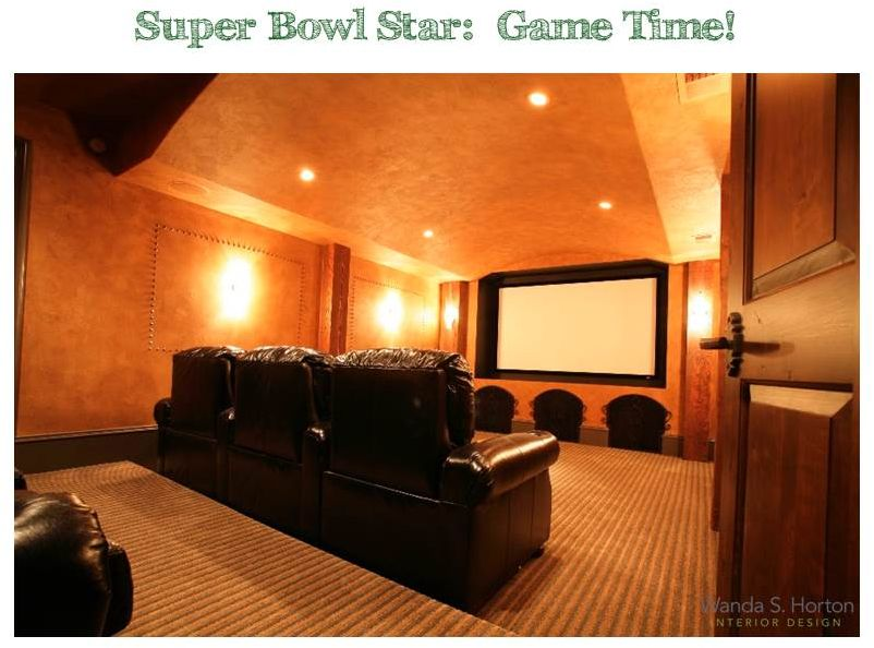 A screening room, with great acoustics, makes the Super Bowl come to life!