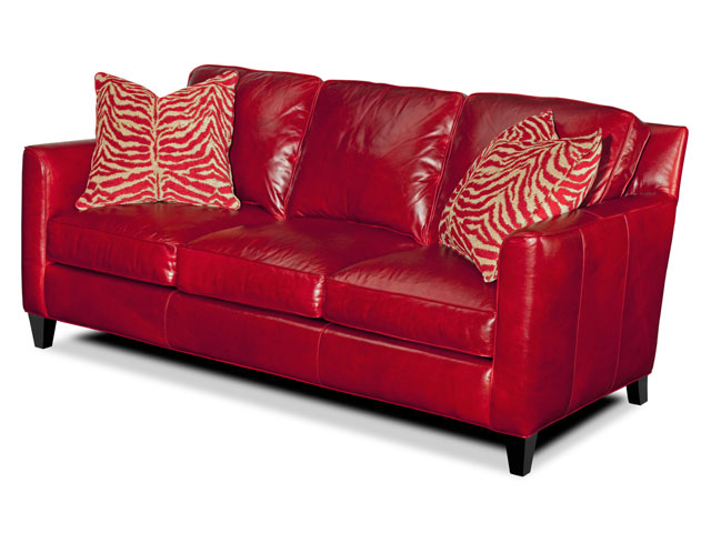 A glorious red sofa expresses confidence