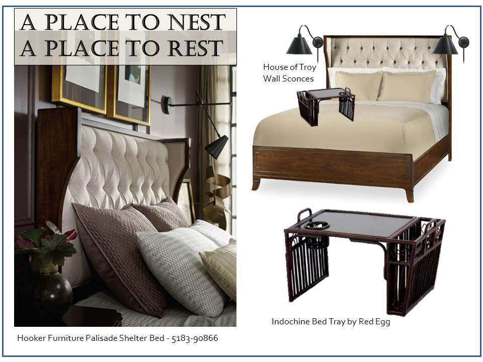 The Palisade Shelter Bed & Indochine Bed Tray