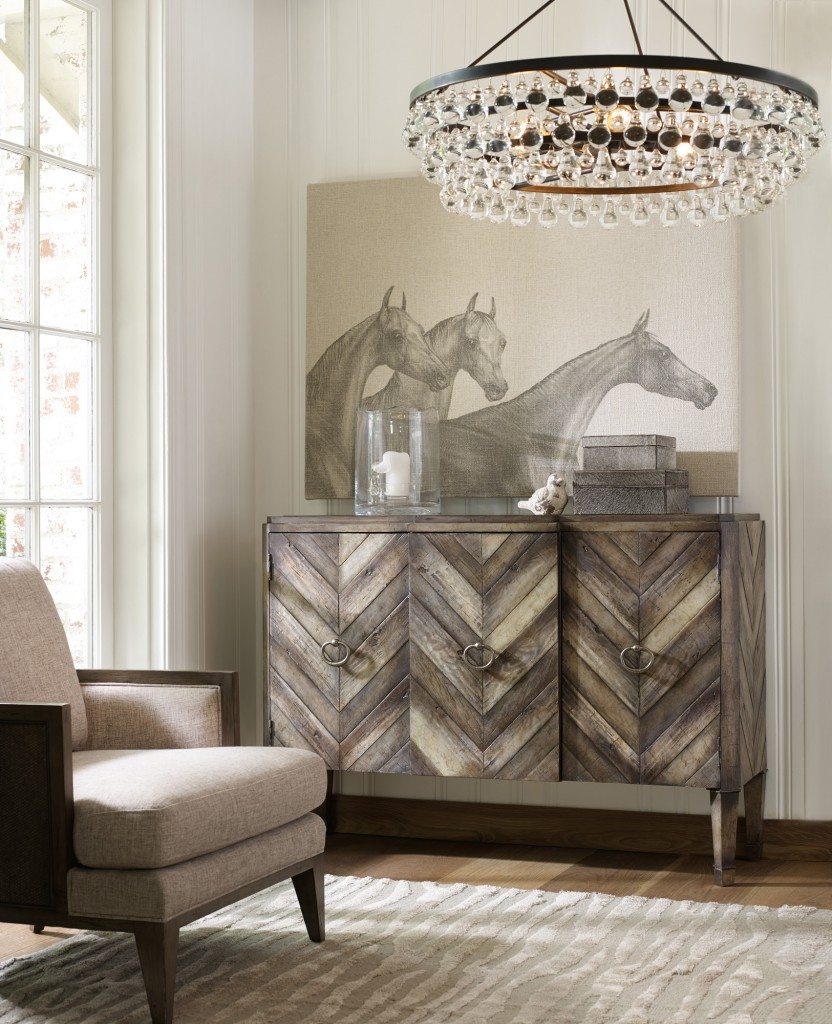 Every room needs a pattern pleaser like Chevron.