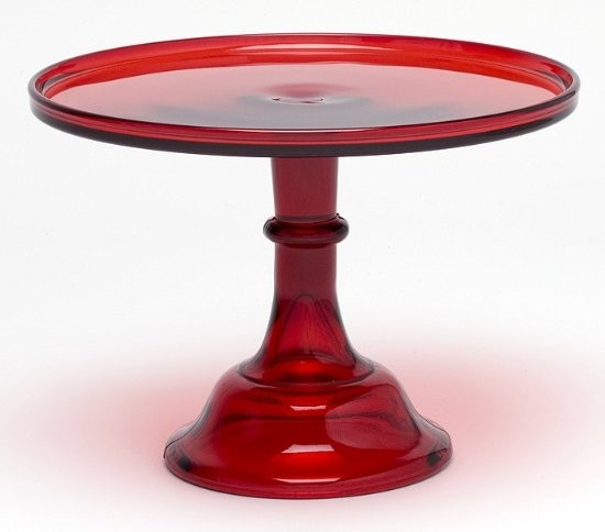 Sparkling red cake plate appeals to both fire & ice