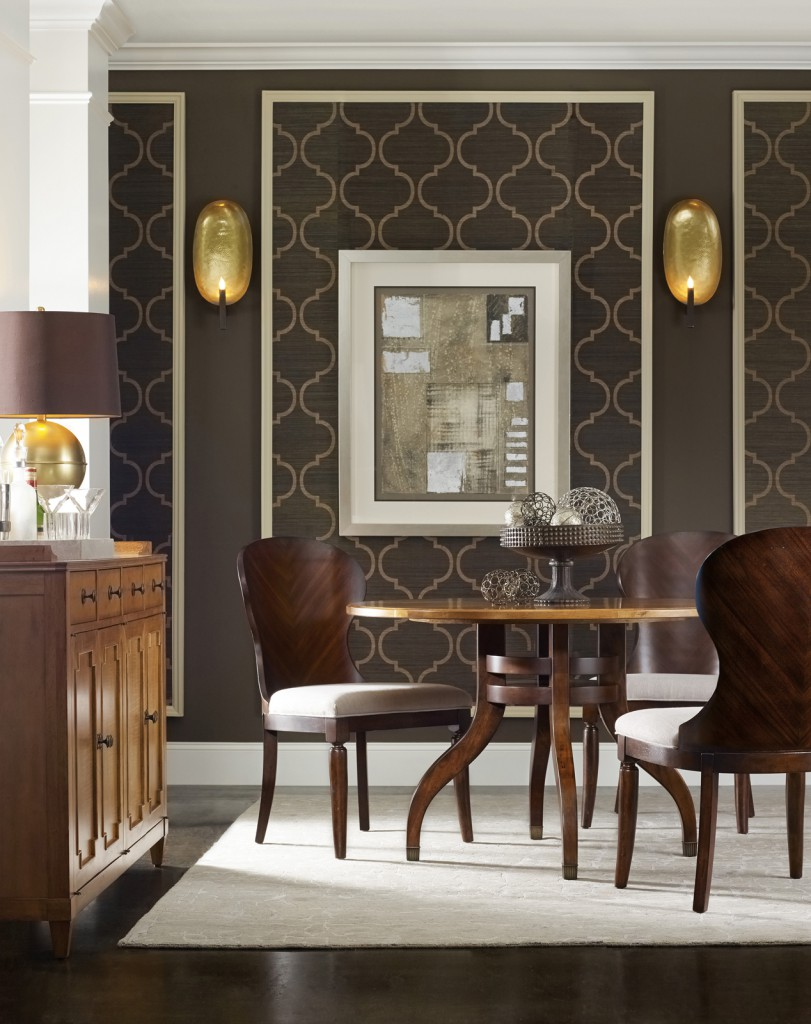 Palisade is a head-turner with its mix of shapely silhouettes and intricately patterned wood veneers.