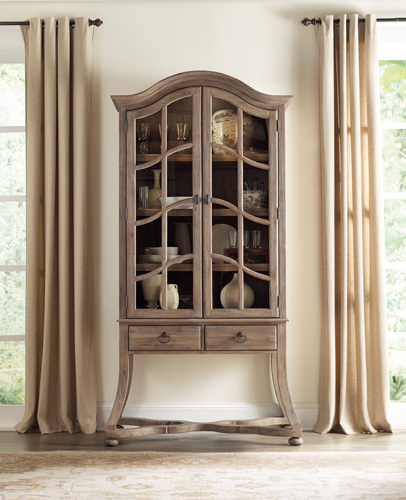 Display cabinet have French Country flavor