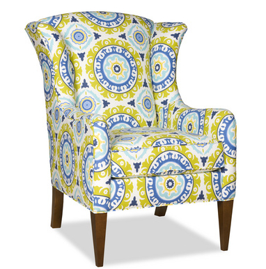 Take flight with Micah, a wing chair with global good looks.