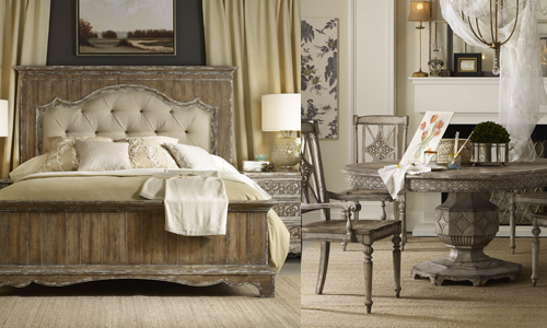 Chatelet is a fresh example of rustic luxury inspired by European antiques.