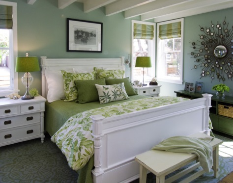 Color layering, especially contrast colors, creates depth. Photo credit: houzz.com