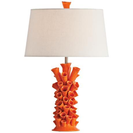 lamps_plus_orange_coral_motif_lamp