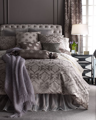 silver jacquard charleston bedding horchow