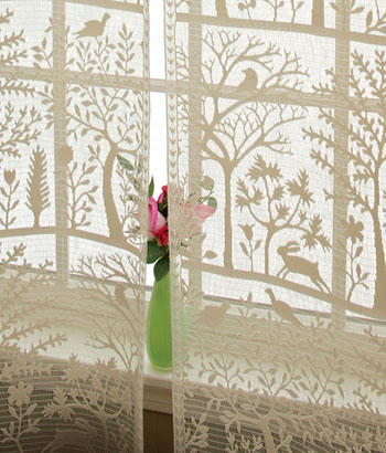 tree of life lace country curtains
