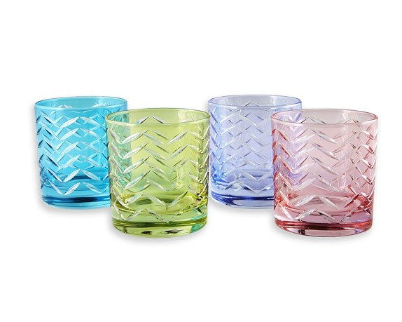williams sonoma pastel old fashioned glasses