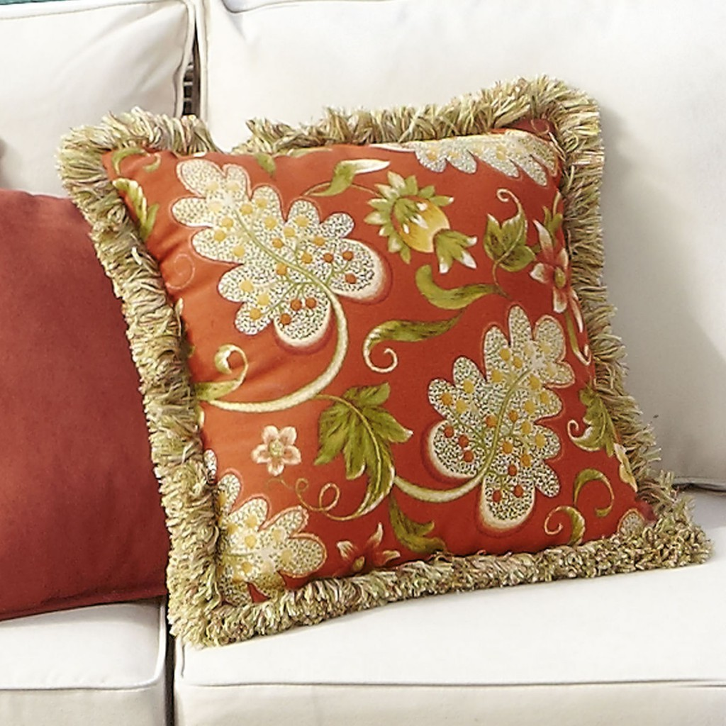 pier 1 outdoor pillow spice ivory olive