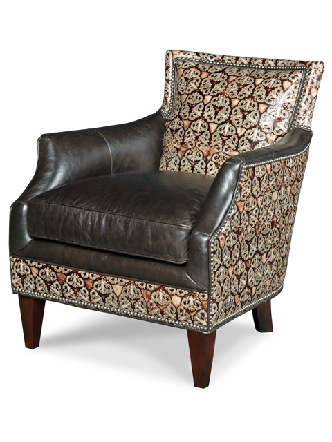 BY opulent medieval and darkleather chair