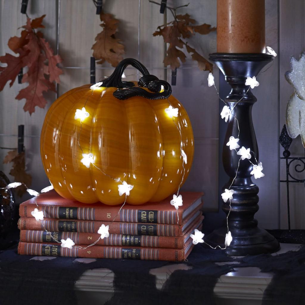 Black Magic lighted pumpkin