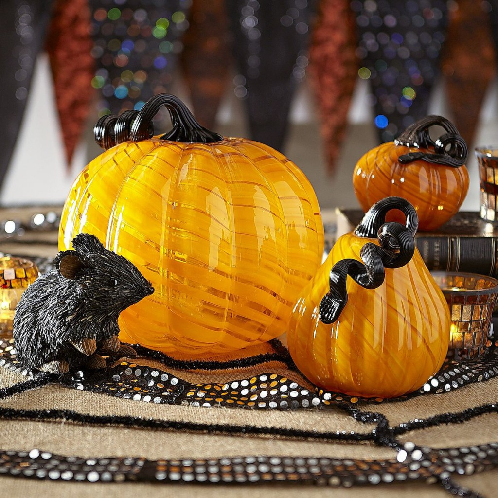 Black Magic mouse and glass pumpkin pier one